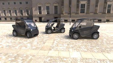 Squad solar electric city car