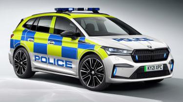 Skoda Enyaq iV police car