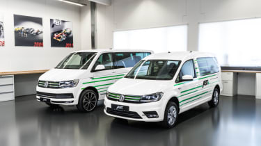 Volkswagen electric Caddy and Transporter