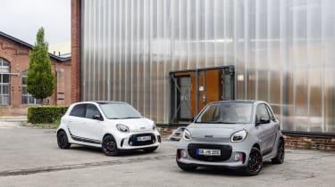 Die neue Generation: smart EQ fortwo coupé und smart EQ forfour / smart zeigt auf der IAA 2019 in Frankfurt seine optisch und digital komplett überarbeiteten fortwo- und forfour-Modelle. Prog
