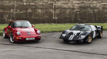 Everrati electric Ford GT40 and Porsche 911