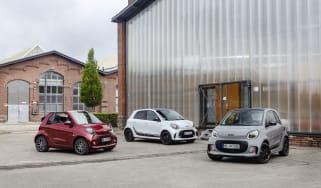 Die neue Generation: smart EQ fortwo coupé, smart EQ fortwo cabrio und smart EQ forfour / smart zeigt auf der IAA 2019 in Frankfurt seine optisch und digital komplett überarbeiteten fortwo- u