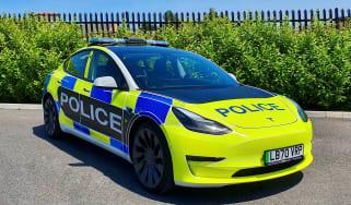 Tesla Model 3 police car