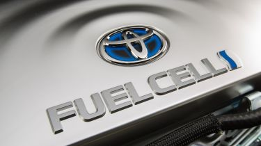 Toyota hydrogen fuel-cell badge