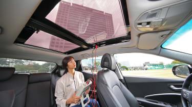 Hyundai solar charging