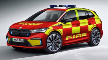 Skoda Enyaq iV fire brigade car