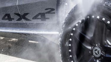 Elektromobilität wird abenteuerlustig. Die Fahrzeugstudie Mercedes-Benz EQC 4x4²Electric luxury goes off-road. The Mercedes-Benz EQC 4x4² vehicle study
