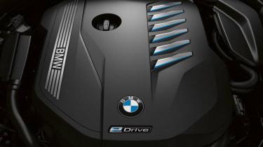 BMW 7 Series PHEV prototype drive engine cover