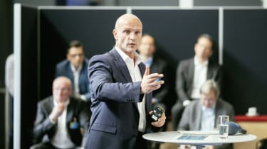 Thomas Ulbrich, Board Member E-Mobility of Volkswagen Brand, explains the transformation of Volkswagen's Zwickau plant.