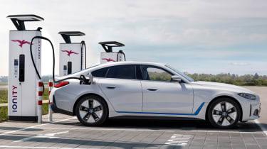 BMW i4 charging