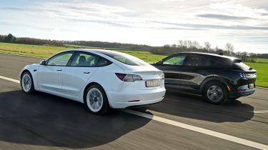 Tesla Model 3 & Ford Mustang Mach-E