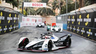 RIYADH STREET CIRCUIT, SAUDI ARABIA - DECEMBER 15: Maximilian Günther (DEU), Dragon Racing, Penske EV-3 during the Ad Diriyah E-prix at Riyadh Street Circuit on December 15, 2018 in Riyadh St