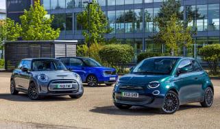 Honda e vs Fiat 500 vs MINI Electric