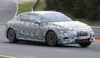 Mercedes EQE spy shot