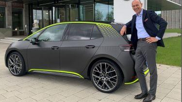 ID.X Prototype and Volkswagen Passenger Cars CEO Ralf Brandstatter