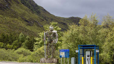 H+K are collaborating with Go Ultra Low, the joint industry and government campaign to promote the uptake of electric cars, pictured at Glencoe Mountain Sports, West Highland Way, Kingshouse,