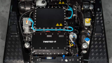 Twisted electric Land Rover Defender conversion pictures