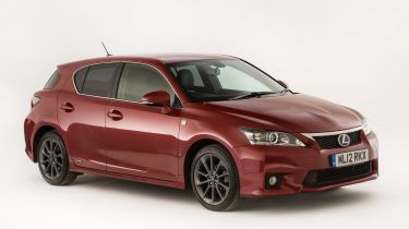 Lexus CT 200h in red