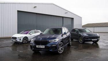 BMW X5 vs Porsche Cayenne vs Jaguar I-Pace