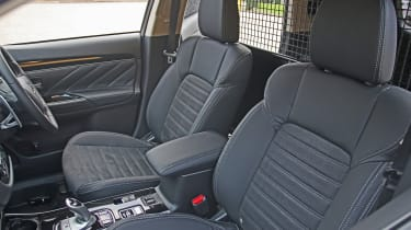 Mitsubishi Outlander PHEV Commercial front seats