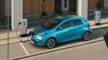 Renault ZOE at charge point