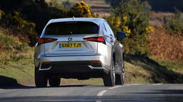 Lexus NX 300h driving - rear