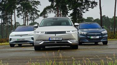 现代IONIQ 5 VS FORD MASTANG MACH-E VS Volkswagen ID.4