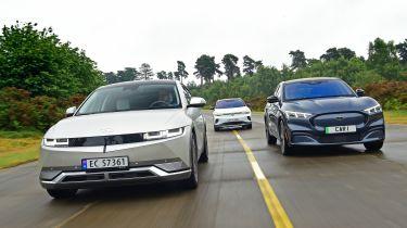 Hyundai Ioniq 5 vs Ford Mustang Mach-E vs Volkswagen ID.4