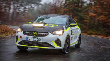 Opel Corsa-e electric rally car