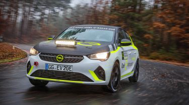 Opel Corsa-e electric rally car