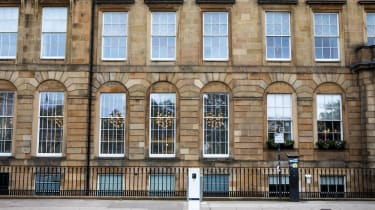 H+K are collaborating with Go Ultra Low, the joint industry and government campaign to promote the uptake of electric cars, pictured at Blythswood Square, Glasgow, G2 4AD. June 18 2019