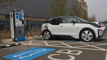 BMW i3 charging at GeniePoint