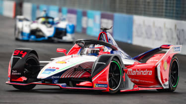RIYADH STREET CIRCUIT, SAUDI ARABIA - DECEMBER 15: Felix Rosenqvist (SWE) Mahindra Racing, M5 Electro during the Ad Diriyah E-prix at Riyadh Street Circuit on December 15, 2018 in Riyadh Stre