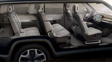 Rivian R1S electric SUV interior