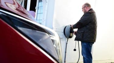 Electric car wallbox installation