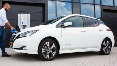 Nissan Leaf using ABB charging point