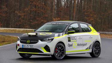 Opel Corsa-e Rallye, Testfahrten in Dudenhofen (Dez. 2019)