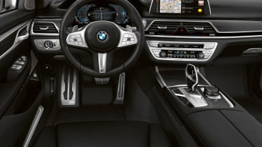 BMW 7 Series PHEV prototype drive dash
