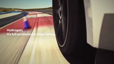 Hyundai hydrogen fuel-cell performance car teaser