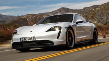 Porsche Taycan driving