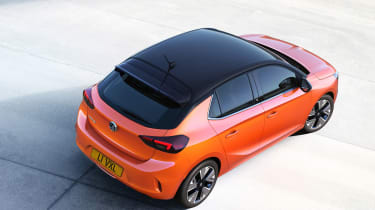 New Vauxhall Corsa-e official 2019 roof