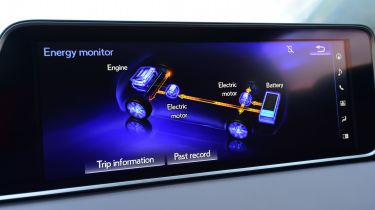 Lexus hybrid system screen