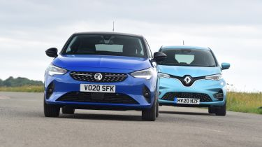 Vauxhall Corsa-e and Renault ZOE