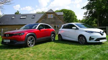 Mazda MX-30 and Renault ZOE GT Line