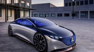 Mercedes-Benz VSION EQS, IAA 2019, der VISION EQS zeigteinen Ausblick auf ein Konzept eines vollelektrischen Fahrzeugs der Luxusklasse. // Mercedes-Benz VISION EQS, IAA 2019, the VISION EQS p