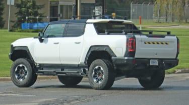 Hummer EV pickup truck spy shot