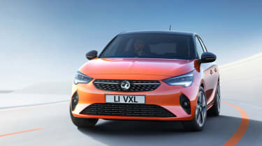 New Vauxhall Corsa-e official 2019 front