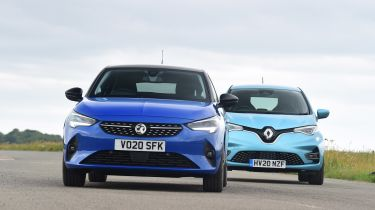 Renault ZOE vs Vauxhall Corsa-e