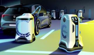 Volkswagen charging robots