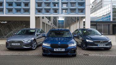 BMW 530e vs Audi A6 TFSI e vs Volvo S90 Recharge